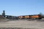 BNSF 7355 Heads up a Trio of GE Motors