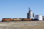 BNSF 8508, UP 4821, and BNSF 8109 Wait for An Ethanol Train to Be Loaded