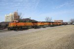 BNSF 7659 Leads an Eclectic Power Assortment on a Manifest Train