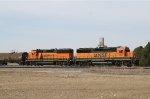 BNSF 3182 (GP25) and BNSF 3131 (GP50) Take a Break
