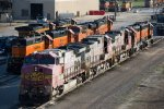SF683, SF625, SF622, BNSF1528, BNSF2005, BNSF2026 and others outside the depot