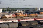 SF787, BNSF7736 and BNSF4670 and others outside the depot