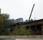 Amtrak #20 is running 6 1/2 hours late crossing Fishing Creek trestle