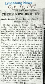 Fishing Creek trestle construction timeline mentioned in this 1909 article.