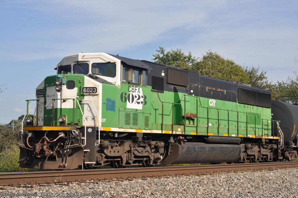 CBFX 6023 On NS 124 Westbound At The West End Of The Siding