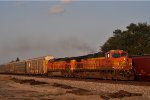 BNSF 4654 On CSX Q 231 Southbound At New River Jct ( Last Light )