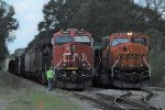 BNSF 9647 meets CN A488