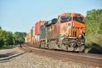 BNSF 6948 Dpu on a westbound stack train.