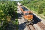 BNSF 3982 Leads a hot Q train down the Marceline Sub.