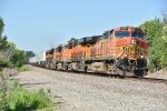 BNSF 5295 Leads a Z train east down the Marceline Sub.