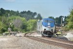 AMTK 197 Races the southwest Chief east.
