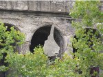 CSX Railroad Bridge over Salt Fork River hanging chunk of concrete