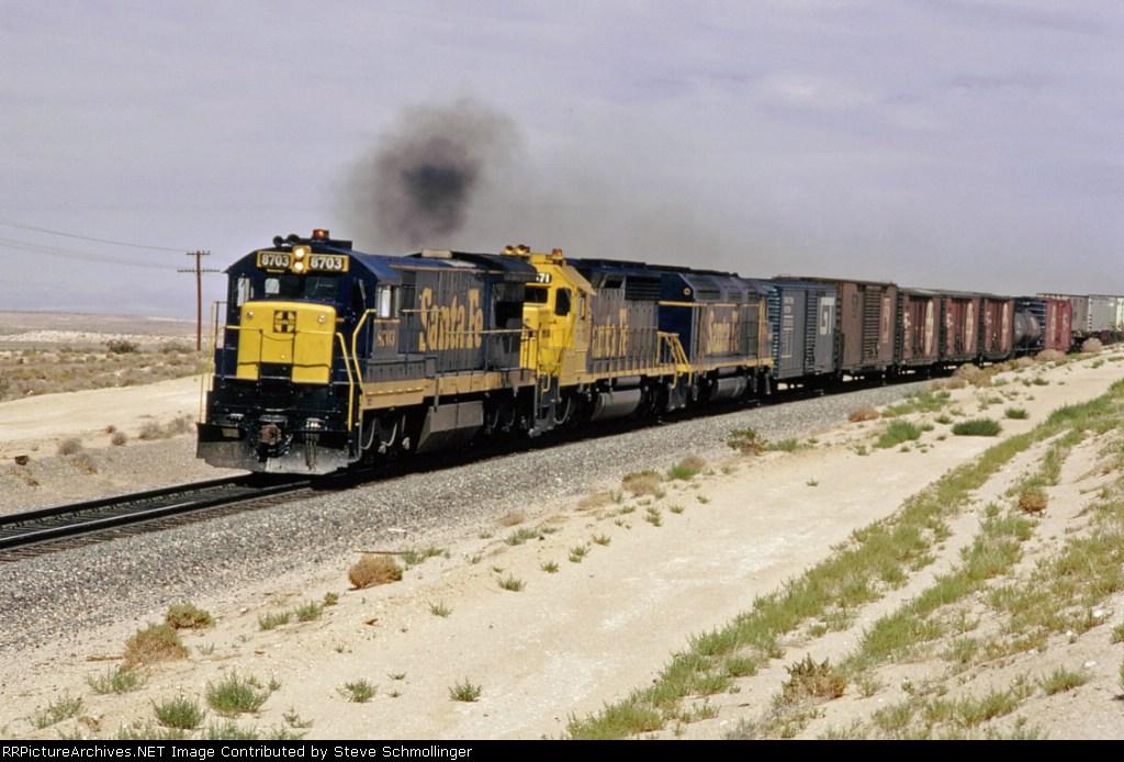 Santa Fe 8703 West at 70 mph