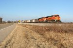 BNSF SB coal with HWRX hoppers