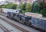 Two GE's lead a trash train east