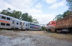 An NJT outbound passes the M&E's old relics