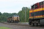 NB intermodal meets SB freight