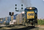 CSX 7598 East departs the yard