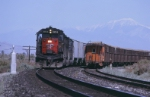 SP 9234 East meets westbound beet train