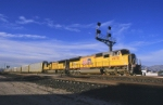 UP 4970 East accelerates out of the yard
