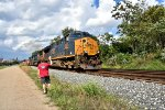 CSX 3383 and a railbud of mine.