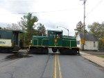 DRR (private owner) GE 45 ton (300 HP) switcher 146 crosses Bridge Street