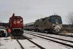 Amtrak Meets the Work Train