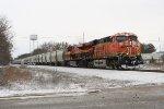 BNSF NB hopper train