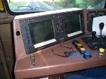 In the Cab of CSXT 53 awaiting a Westbound Manifest