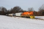 The G&W orange of GR 2104 stands out from the winter landscape