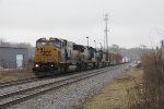 With most of its SD60 family members retired, 8735 leads Q385 west
