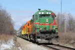 No longer plying the rails of central Illinois, IMRR 81 spends some time in West Michigan