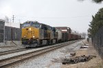 After coming all the way from Selkirk, CSX 3448 & 5226 roll through Grand Rapids with Q385-10