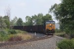 After waiting for a few minutes at Fox, CSX 751 slowly heads west with Q329