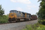 CSX 751 & 4083 round the curve as they knock off the last few miles with Q329