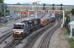 Westbound single stack train