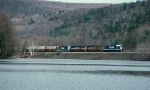 PLM 3019 leads train 270 northbound alongside Seward Lake