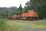 BNSF 4992 leads Mt Tom coal train on the former D&H