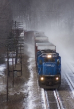 NS 8304 kicking up the snow