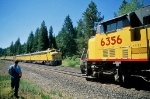 UP eastbound meets Feather River Special