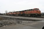 BNSF NB freight switching the yard