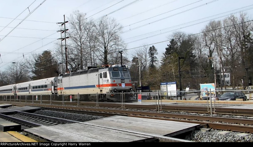 "SEPTA ALP-44 2308 passing Daylesford Station ""FAREWELL 1998-2018"""