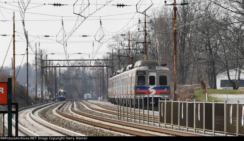 "SEPTA Silverliner V meet on ""The Main Line"""