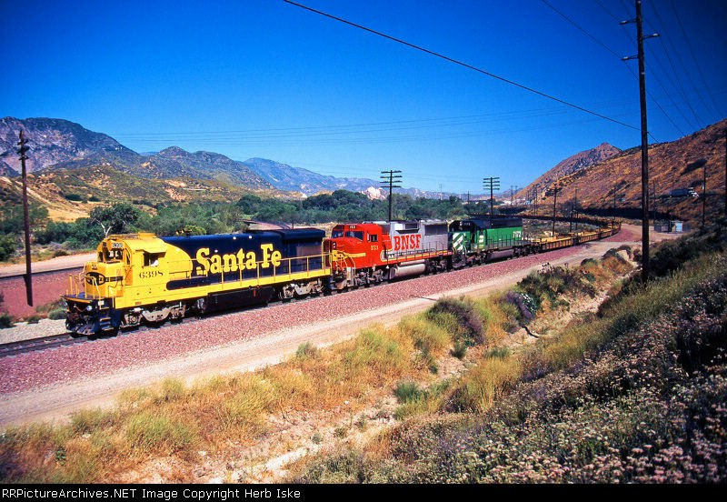 Santa Fe Blue and Yellow Down the Pass