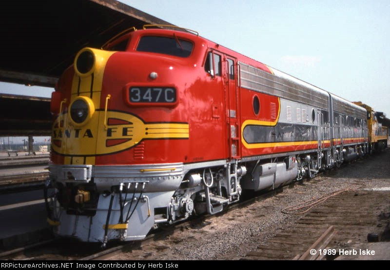 Former Santa Fe F7A #347C at LAUPT 1989