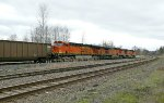 BNSF 5527 East empty coal at Lowell