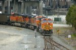BNSF 5527 South empty coal at Rogers