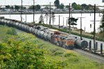 BNSF 6827 North loaded oil at Bayside