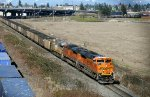 BNSF 8787 East empty coal on Lowell Running
