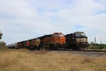 BNSF 3900 overtakes NS 9797